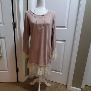 Reborn gorgeous cotton/lace dress